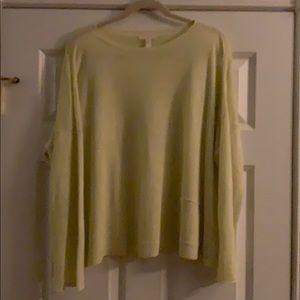 Eileen Fisher 100% linen long sleeve knit top